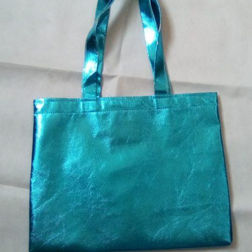 Sacola em TNT Laminado Azul 40×30