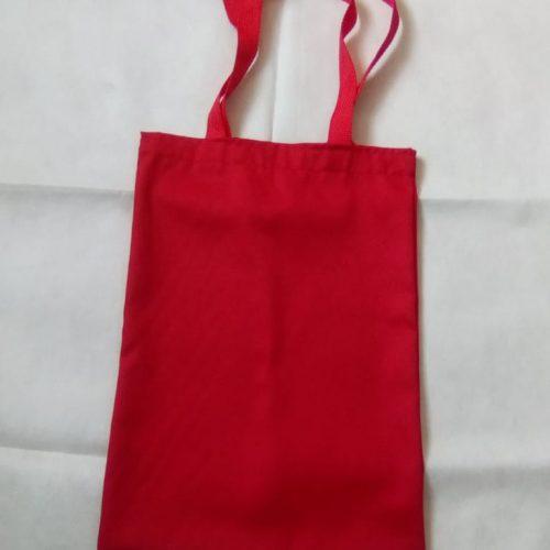 Sacola em Tecido 100% algodão vermelho
